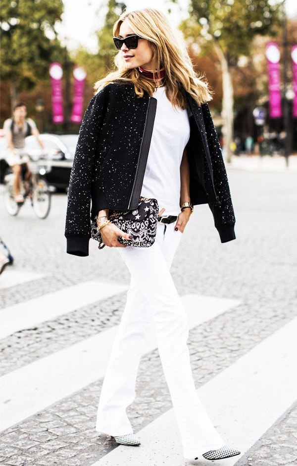 13 cách phối đồ với áo thun trắng khi trời chuyển thu