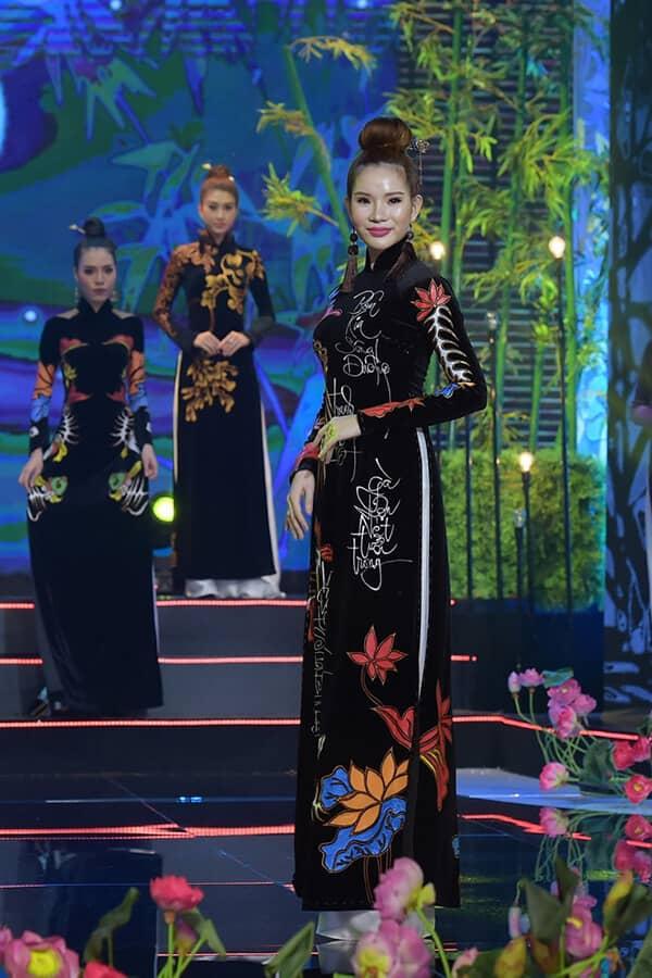 Người mẫu teen Bảo Nguyên mở màn bộ sưu tập áo dài Vũ điệu Đông Hồ - Hình ảnh 8