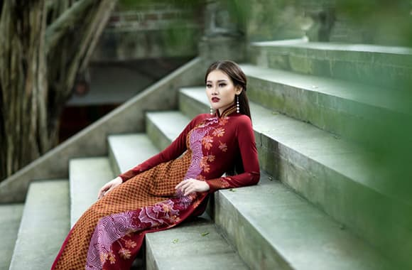 ART - Những tà áo dài mang tinh thần và vẻ đẹp của nghệ thuật - Hình ảnh 9