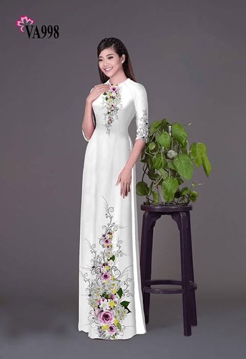 Mẫu in áo dài tại công ty in vải hoa anh đào - hình ảnh 1