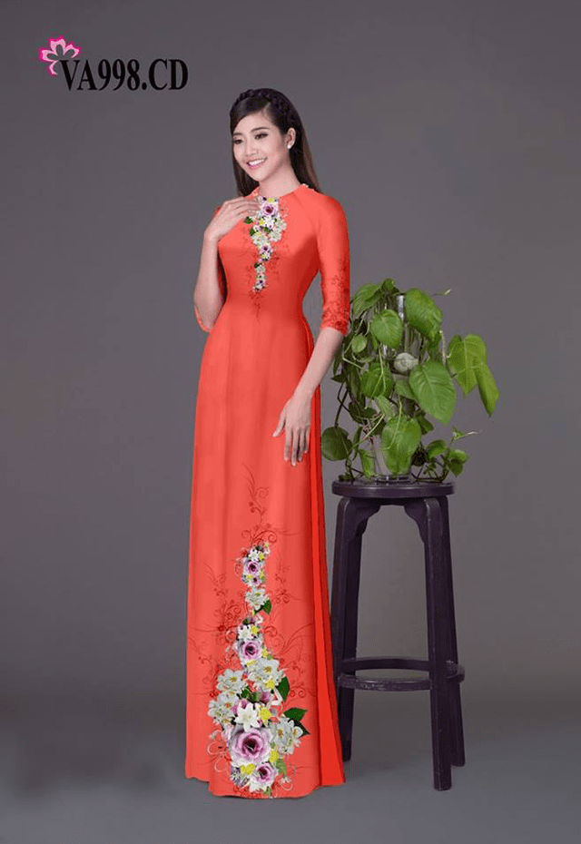 Mẫu in áo dài tại công ty in vải hoa anh đào - hình ảnh 4