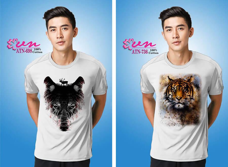 Mẫu áo thun in họa tiết đẹp từ Công ty In Vải Kỹ Thuật Số Hoa Anh Đào - Hình ảnh 1