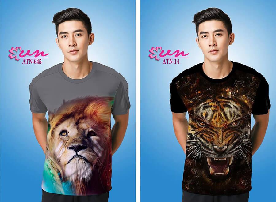 Mẫu áo thun in họa tiết đẹp từ Công ty In Vải Kỹ Thuật Số Hoa Anh Đào - Hình ảnh 2