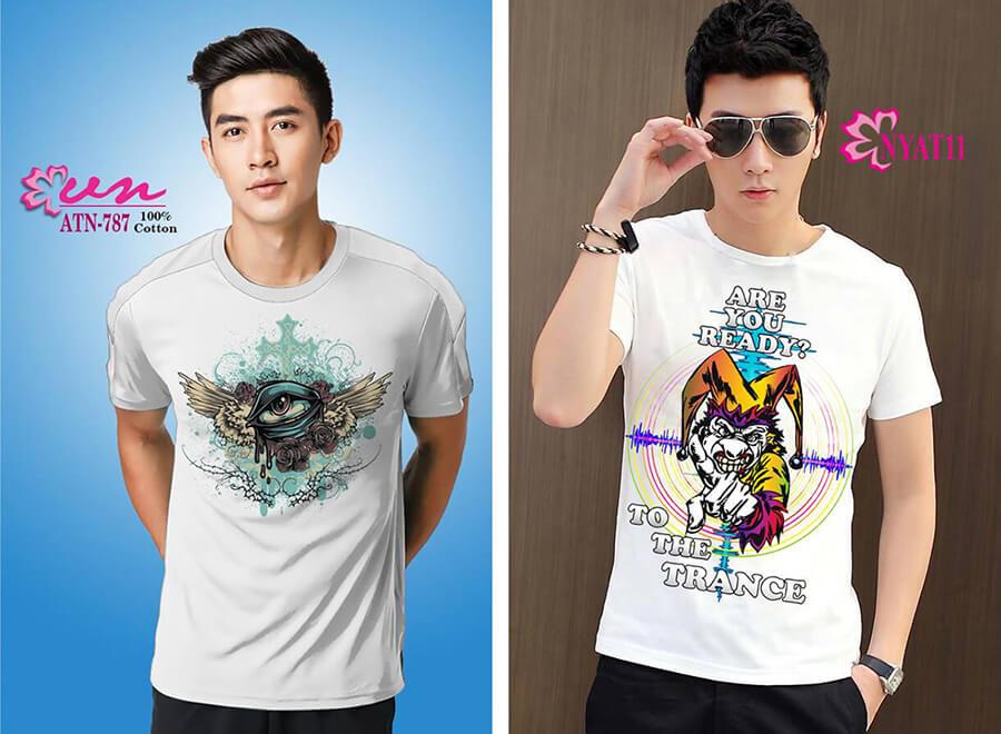 Mẫu áo thun in họa tiết đẹp từ Công ty In Vải Kỹ Thuật Số Hoa Anh Đào - Hình ảnh 3