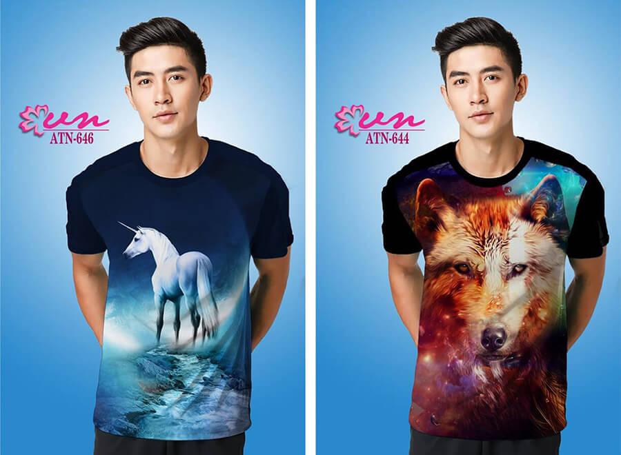 Mẫu áo thun in họa tiết đẹp từ Công ty In Vải Kỹ Thuật Số Hoa Anh Đào - Hình ảnh 4