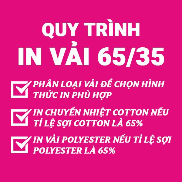 Quy trình in vải 65/35 tại Công ty In Vải Kỹ Thuật Số Hoa Anh Đào