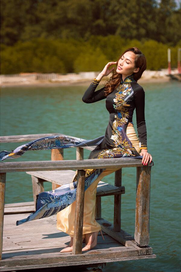Khả Trang cùng dàn mẫu diện áo dài tôn vinh vẻ đẹp phụ nữ Việt - Hình ảnh 5