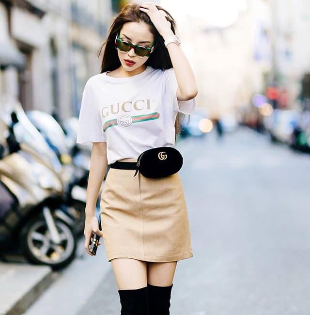Hoa hậu Kỳ Duyên mix đồ sành điệu với áo thun - Hình ảnh 7