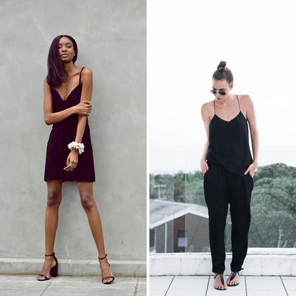 Gợi ý diện trang phục màu đen trong những ngày hè rực nắng - Hình ảnh 2