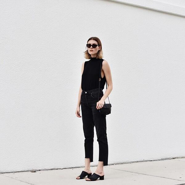 Gợi ý diện trang phục màu đen trong những ngày hè rực nắng - Hình ảnh 5