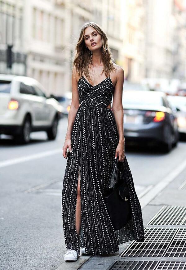 Gợi ý diện trang phục màu đen trong những ngày hè rực nắng - Hình ảnh 10