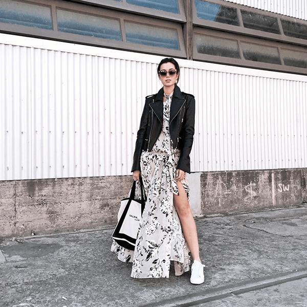 Diện trang phục in hoa xuống phố như dàn tín đồ thời trang Việt - Hình ảnh 8