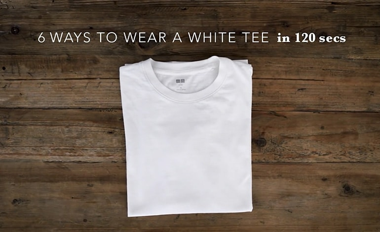 Gợi ý phối đồ với áo thun trắng dành cho nam trong 120 giây