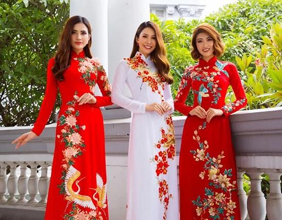 Minh Châu đưa hình ảnh cuộc sống thường ngày lên áo dài - Hình ảnh 1