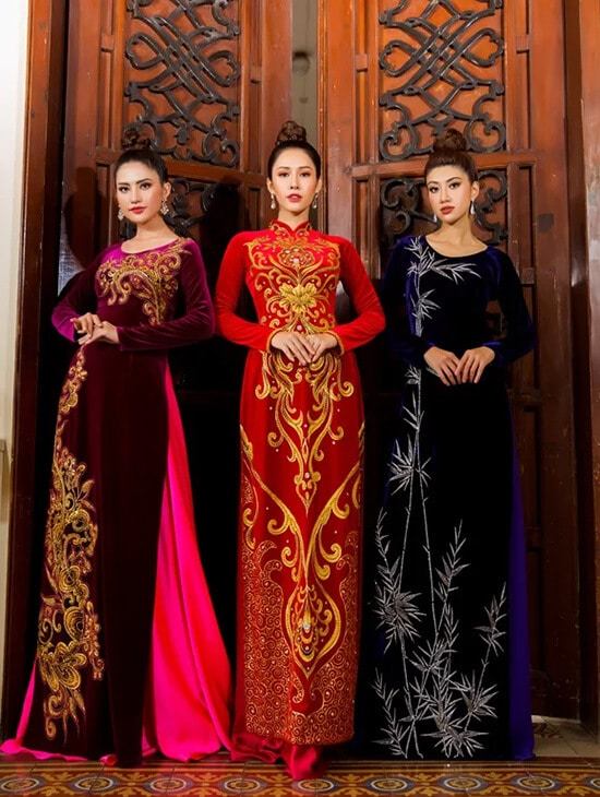 Minh Châu đưa hình ảnh cuộc sống thường ngày lên áo dài - Hình ảnh 2