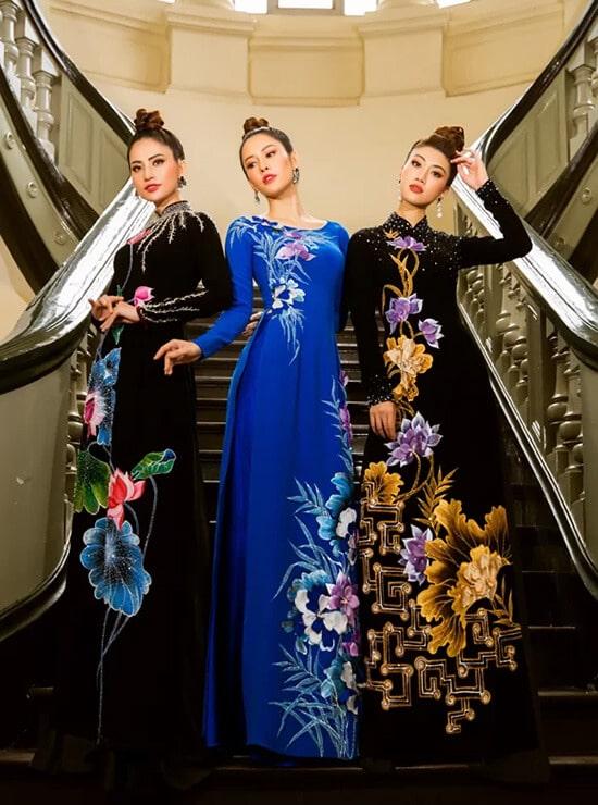 Minh Châu đưa hình ảnh cuộc sống thường ngày lên áo dài - Hình ảnh 3