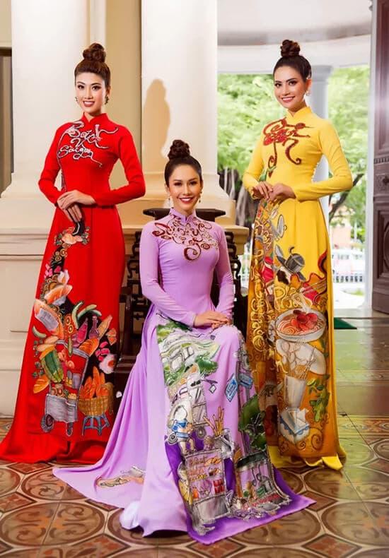 Minh Châu đưa hình ảnh cuộc sống thường ngày lên áo dài - Hình ảnh 4