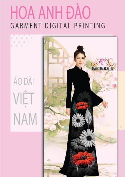 In vải áo dài Hoa Anh Đào