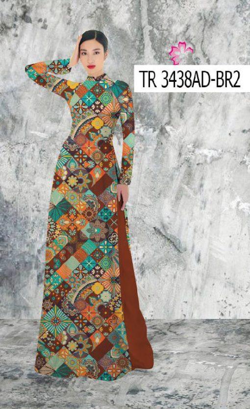 Vải áo dài hoạ tiết thổ cẩm